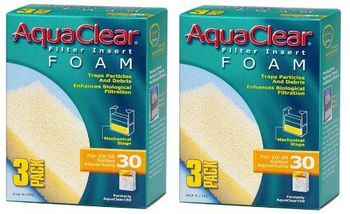 Hagen AquaClear – Inserts en Mousse, 3-Pack (6-Pack, 30-Gallon)