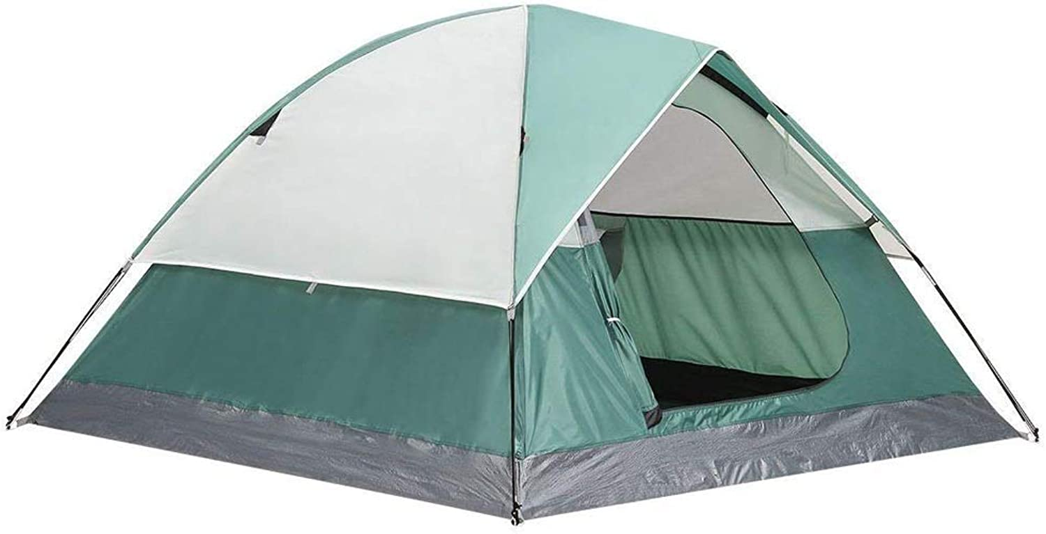 Outdoor Camping Tent, 23 People, Dome, Lightweight, Rainproof Sunscreen Waterproof, Suitable for Picnic Beach Park Lawn Field Mountaineering Hiking Tourism Green