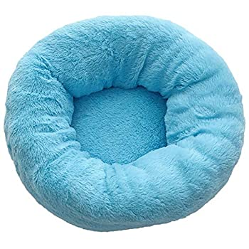 TREESTAR Pet Bed Plush Kennel Deep Sleep Round Kennel Can Reduce The Fatigue of Cats and Dogs and Improve Sleep Blue-S