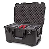 Nanuk 938 Waterproof Hard Case with Wheels and Padded Divider - Black