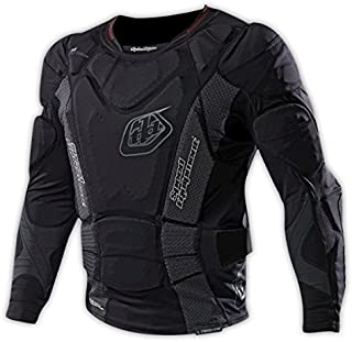 Troy Lee Designs 7855 Heavyweight Long-Sleeve Protection Shirt Solid Black, L