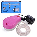 Best AW Airbrush Makeup Kits - AW 0.35mm Dual Action Spray Airbrush Pink Makeup Review