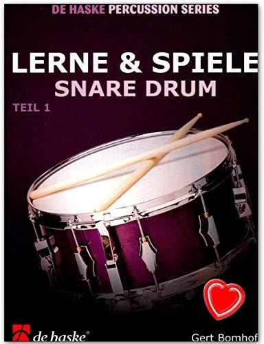 Lerne und Spiele Snare Drum, Teil 1 - Schule für Snare Drum mit bunter herzförmiger Notenklammer - Verlag De Haske DHP1013114 9789043114950