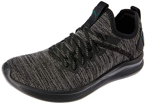 Puma Unisex-Kinder Sneakers Sneaker IGNITE Flash evoKNIT Jr, Schwarz (Puma Black-Dark Shadow-Ponderosa Pine), 38 EU