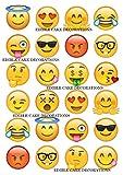 24 x Emoji lustige Gesichter Celebration essbare Papier Cupcake Toppers Kuchen Dekorationen...
