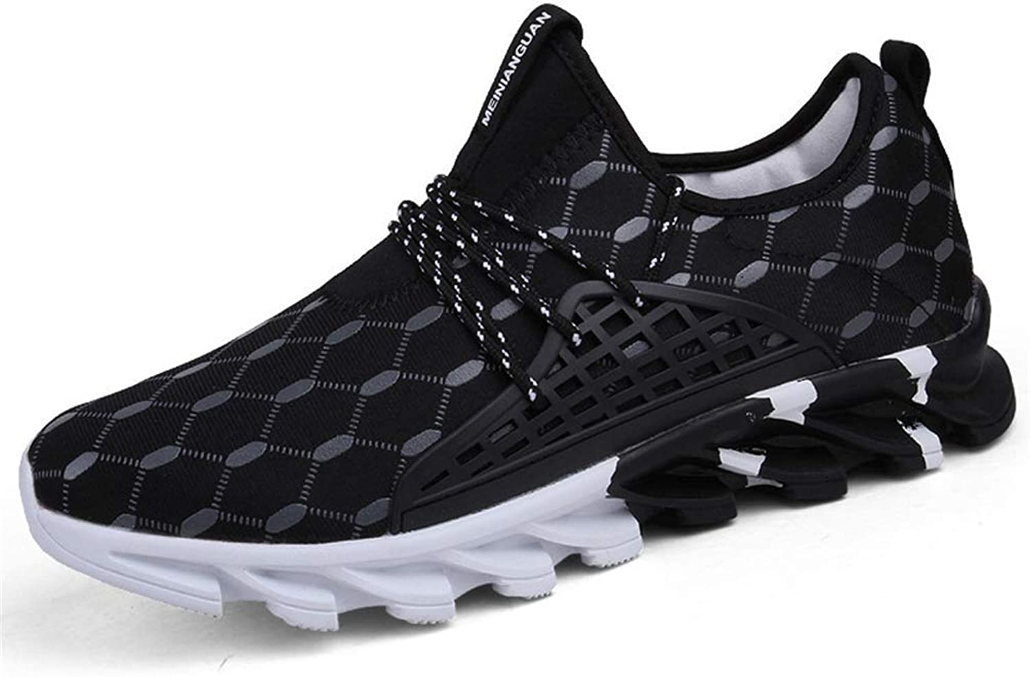 ZHRUI Mens Sport Sneakers Men Comfortable Sports Outdoor Running shoes Male Breathable Footwear (color   Black, Size   6.5=40 EU)
