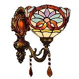 DALUXE Tiffany Apliques Interior 8inch Estilo británico Espejo Barroco lámpara...