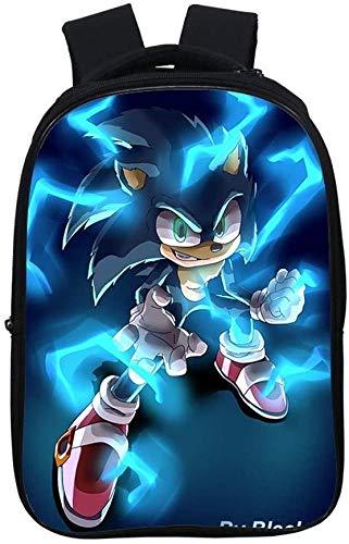Mochila Sonic para niños, impermeable, mochila escolar, ergonómica, ligera (8,16 pulgadas)