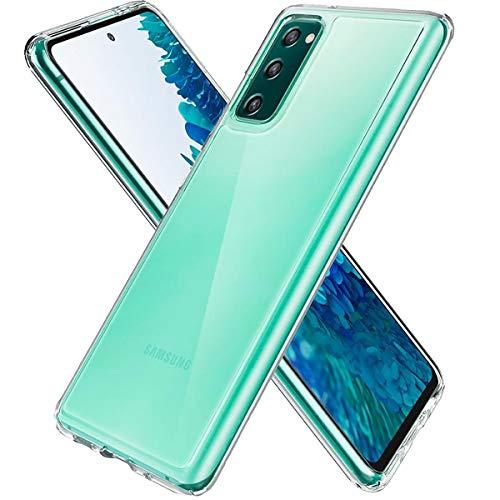 Three-Tree Hülle Handyhülle Kompatibel mit Samsung Galaxy S20 FE, Clear Ultra Dünn Anti-Fingerabdruck HD Anti-Kratz Schutzhülle, Rückseite Soft TPU Hülle für Samsung S20 FE - Transparent