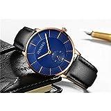 Xlin Modische Herren-Armbanduhr, minimalistisch,...