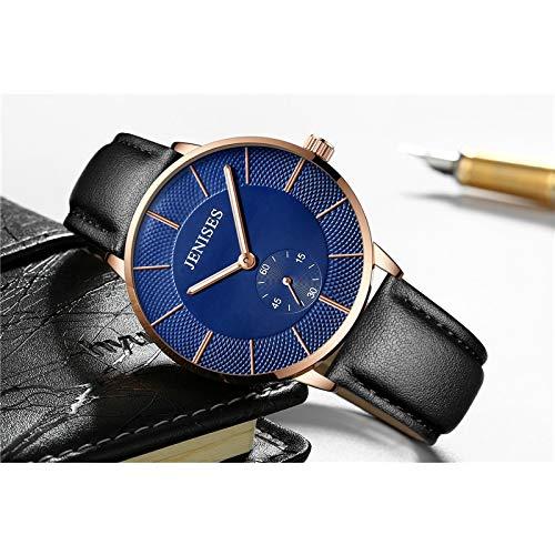 Xlin Modische Herren-Armbanduhr, minimalistisch, ultradünn, Edelstahl-Mesh-Band, analoge Quarzuhr (Farbe: RBRH)