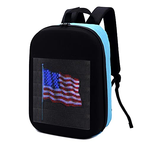 Wetalk Smart Programmable LED Backpack S2 with Engagement / Marriage Proposal Design on the Customizable Screen Waterproof Fashion Creative Wireless LED Backpack
