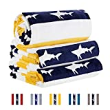 Cabana Cotton Beach Towel Oversized Striped Pool Towel(Extra Large 35inch x 70inch,400 GSM)