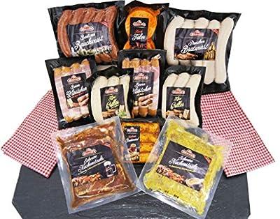 Barbecue Party Grillpaket mit Bratwürsten Steak Käsegriller Grillende Grillfleisch Rauchwurst - 11x Grillspezialitäten