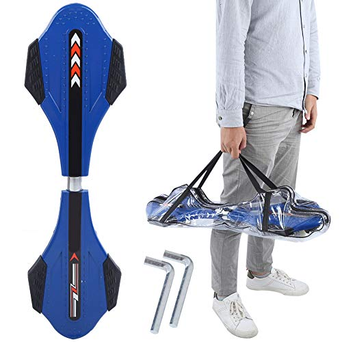 Tbest Caster Board, XLL‑H18 Alloy Vitality Reinforce Snake Board Scooter Outdoor Sports