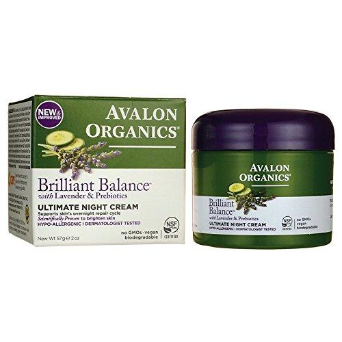 Price comparison product image Avalon Organics Brilliant Balance with Lavender & Prebiotics Ultimate Night Cream 2 oz