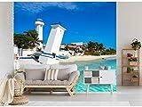 Papel Pintado para Pared Playa en Riviera Maya | Fotomural para Paredes | Mural | Papel Pintado | Varias Medidas 600 x 300 cm | Decoración comedores, Salones, Habitaciones.