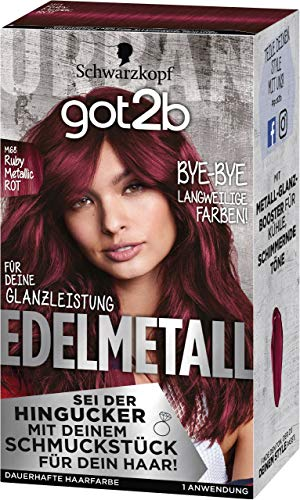 SCHWARZKOPF GOT2B Edelmetall M68 Ruby Metallic Rot, 1er Pack (1 x 142 ml)