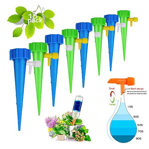 Riego por Goteo Automático Kit,Riego por Goteo con Flujo Constante De Agua Sistema de riego para jardínAjustable Piezas Riego por Ggoteo Spike Sistema de Irrigación para Jardín Bonsáis y Flores