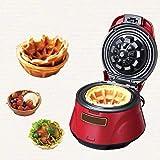 JZH-kitchen Waffle Maker Waflera Antiadherente Waffle Bowl Machine para The Crisp Waffles Bowl - con Paquete De Control Automático De Temperatura - 686W