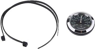 Relógio com mostrador Baoblaze Temp Termômetro Higrômetro para guidão 22 mm 25 mm - Termômetro - Preto