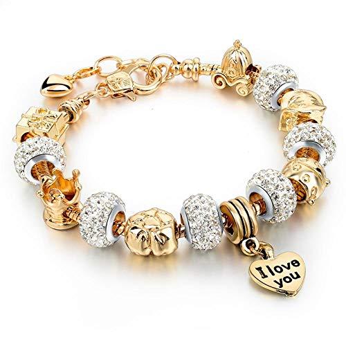 Armband sieraden Gouden Bedelarmbanden Voor Dames Diy Kralen Kristal Armbanden En Armbanden Pulsera Sieraden Armbanden