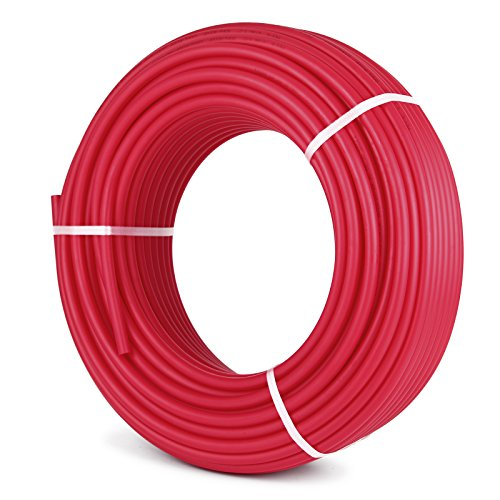 Happybuy Oxygen O2 Barrier PEX Tubing - 1/2 Inch X 300 Feet Pex Tube Coil - EVOH PEX-B Pipe for Residential Commercial Radiant Floor Heating Pex Pipe (1/2' O2-Barrier, 300Ft/Red)