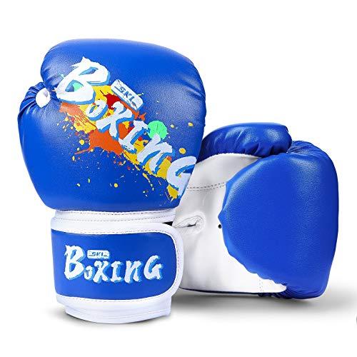SKL Guantes de boxeo para niños, guantes de...