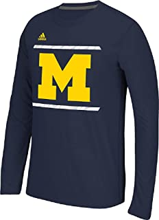 adidas Michigan Wolverines Blue Sidelines Energize Ultimate Polyester Long Sleeve Shirt