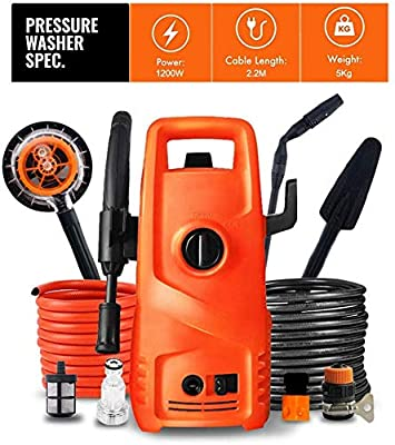 Indoor and Outdoor Cleaning Tools Mop Garden 1200W Pressure Washer with Accessories Ndash; Outdoor Home/Patio Car Cleaner - 70Bar-100Bar Working Pressure, 220V/50Hz Voltage. dljyy from dljxx