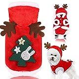 Fossrn Disfraz Perro Navidad Ropa Chihuahua Yorkshire Sudaderas con Capucha de Asta de Alce - Papá...