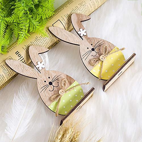 Nrpfell Wooden Scaffali DellUovo di Pasqua per LOrnamento del Partito di Pasqua DIY Bunny Lettera Uovo Stand Rack Modello di Coniglio Decorazione di Pasqua per La Casa