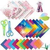 Papel de Origami,Hojas de Papel de Doble Cara, Origami Hecho a Mano, Papel de Color, Papel de Origami Plegable DIY Papel de Origami de Doble Cara para Proyectos de Arte y Artesanía (Rosado)