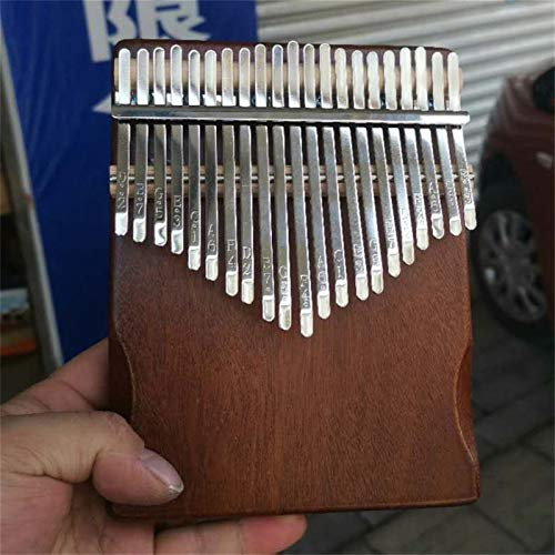 Kalimba, Daumenklavier 17 Keys Kalimba Daumenklavier Praktische Holz Mahagoni Korpus Musikinstrument mit Lernbuch Tuning Hammer (Color : Brown nude piano)