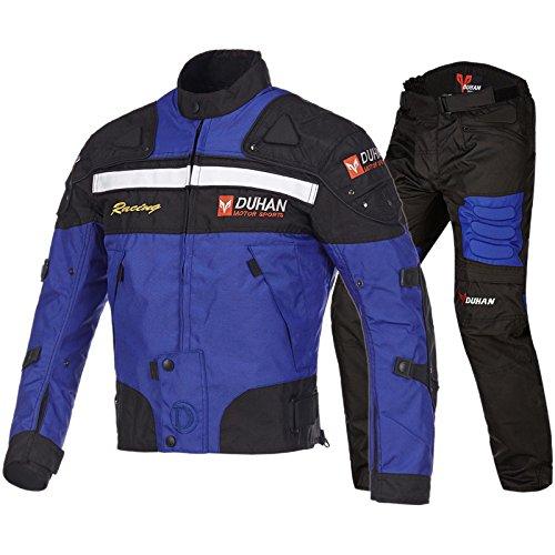 DUHAN(ドゥーハン) バイクジャケット&パンツセット ブルー L オールシーズン 春夏秋冬用 905412