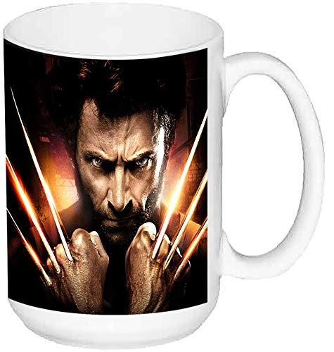 MasTazas X-Men Origins Wolverine Hugh Jackman Lobezno A Taza Grande Ceramica 15 oz ≈ 443 ml