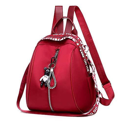 Nuevo impermeable nylon mujeres mochila cremallera escuela bolsas para adolescentes niñas pequeño colgante mochila mujer multifunción mochila