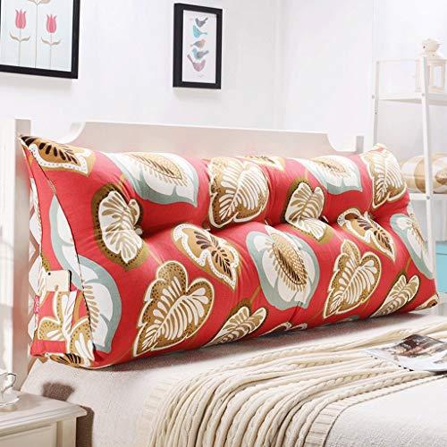 LIPENLI Doble cintura cabecero de la cama suave Paquete tatami Cama Cojín (color: R, Tamaño: 135 cm)