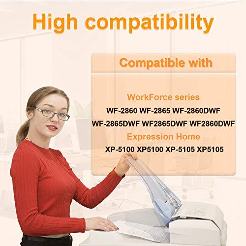 D&C 502XL Cartuchos de Tinta Reemplazo para Epson 502 502 XL per Epson Expression Home XP-5100 XP5100 XP-5105 XP5105, Workforce WF-2860DWF WF-2865DWF WF-2860 WF-2865 ( Paquete de 5 )