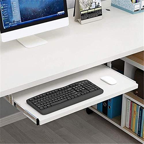 Deslizamiento debajo de la mesa Cajón para montaje en escritorio Bandeja para teclado debajo del escritorio Bandeja para ratón Estante debajo del escritorio Mejore la comodidad mientras aumenta