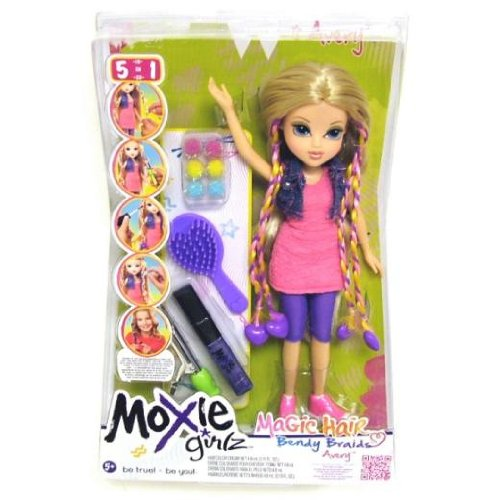Moxie Girlz – Magic Hair Bendy Braids – Avery – Poupée 26 cm Cheveux Tressés (Import Royaume-Uni)