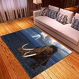 LGXINGLIyidian Alfombra Hermoso Mundo Animal Natural Alfombra Suave Antideslizante De Decoración del Hogar De Impresión 3D T-2258E 80X150Cm