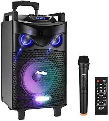 Moukey Karaoke Machine 140 Watt Bluetooth Outdoor Portable Karaoke Speaker System PA Stereo product image