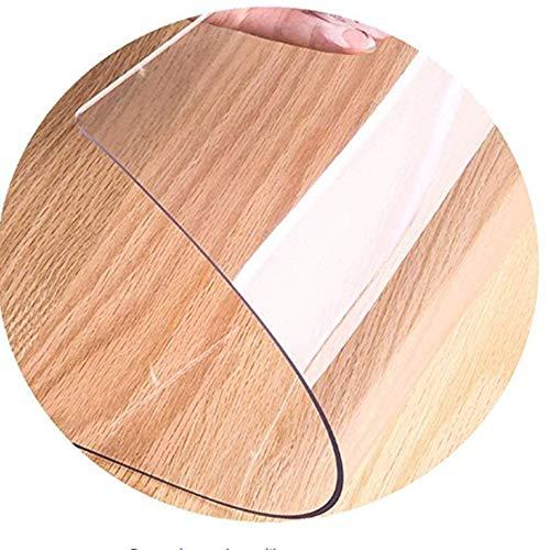 WLF-didian PVC-Kunststoff transparent Fußmatte, Bodenschutzfolie, Kratzfest, verschleißfest und druckfest,1.5mm,100 * 80cm