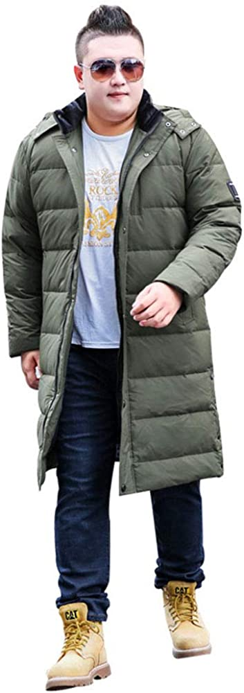 June Men's Plus Size Down Padded Jacket Oversized Winter Long Coat XL-10XL