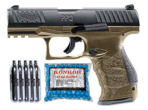 T4E Walther PPQ .43 Blowback Paintball Pistol Super Combo (TAN)