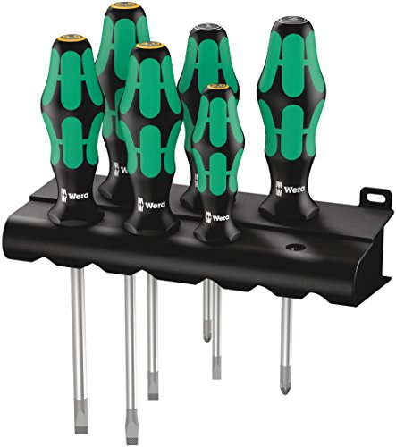 Wera 334/355/6 Rack Schraubendrehersatz Kraftform Plus Lasertip + Rack, 6-teilig, 05105656001
