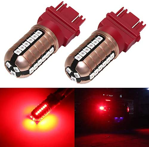KATUR Super Red 800 Lumens 7440 7443 7444NA 7441 7444 992 3014 54SMD Led Light Bulb Back Up Reverse Brake Tail Light Lamp Red DC 12V-24V 3.1W 2-Pack