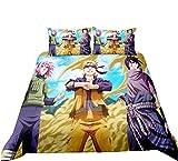 Zenghh Naruto Team 7 Bolsa de ropa de cama Danainanahan 3 pieza Set para la cubierta de la colcha y la funda de almohada Hatake Kakashi Kakashi-Han Inicio Ventiladores de textiles Decoración de la hab