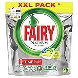 Fairy Platinum Tutto In Uno Limone, 70 Capsule, Pastiglie Per Lavastoviglie, Per Sfide Difficili, Pulisce I Residui Di Grasso Nel Filtro